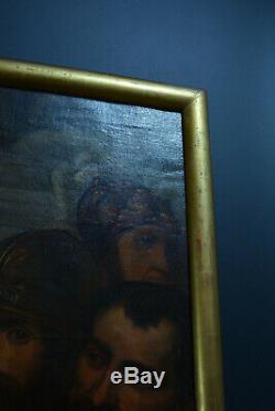 Grand tableau ancien religieux Portrait martyre de sainte marthe sv. F. J Navez