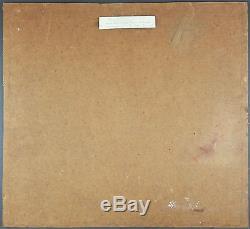 Gustav Macke (Allemand, 1875-) Ancien Tableau Peinture Huile Original Painting
