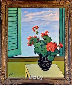 Gustave LINO (1893-1961) NATURE MORTE HUILE TABLEAU ANCIEN ORIENTALISTE CADRE