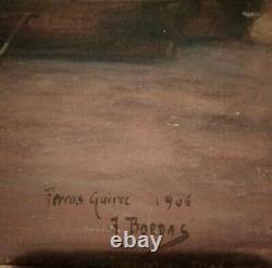 HSC ANCIEN TABLEAU MARINE-BORDAS Perros-Guirec 1906