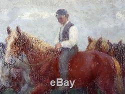 Henri Blahay (Français, XIXe-XXe) Ancien Tableau Peinture Huile Oil Painting