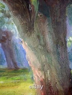 Henri Charry (Français, 1878-1962) Ancien Tableau Peinture Huile Original