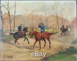 Henry-Louis Dupray (Français, 1841-1909) Ancien Tableau Peinture Huile Original
