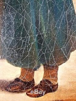 Hortense Haudebourt-Lescot (Française, 1784-1845) Ancien Tableau Peinture Huile