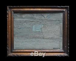 Huile Tableau ancien composition abstraite peinture portant signature Charchoune