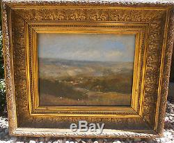 Huile panneau paysage sancerrois Sancerre peinture signé painting tableau ancien