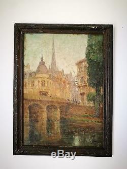 Huile sur panneau tableau ancien peinture