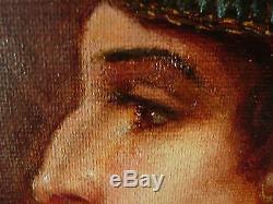 Huile sur toile, Orientaliste, signé, fin 19 ème. Tableau ancien