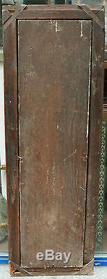 IMMENSE TABLEAU ANCIEN Peinture Portrait Christ Croix Crâne Vanité XVI-XVIIe