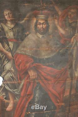 Immense tableau ancien Scène biblique Anonyme