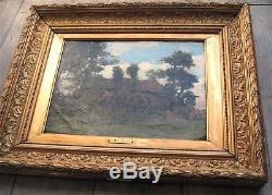 Impressionnisme 1874 Jean-Baptiste DEGREEF Rare Tableau ancien Belgique Tervuren