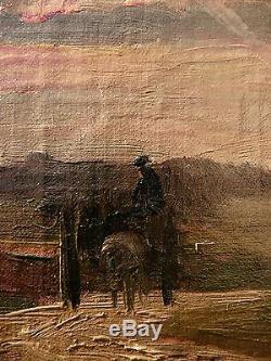 Impressionniste, Marcelin DE GROISEILLIEZ(1837-1880). Tableau ancien