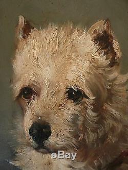 Impressionniste, portrait, Griffon, Jules CHARDIGNY(1842-1892) Tableau ancien