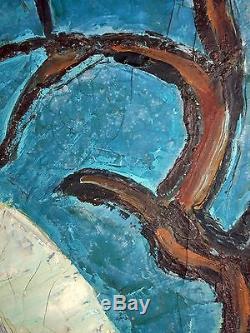 Jac Adam (1918-2003) Ancien Tableau Peinture Huile Original Antique Oil Painting