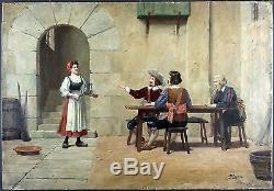 José Alsina (Espagnol, 1850-) Ancien Tableau Peinture Huile Original Painting