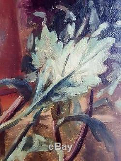 Jules Gérard (Français, XIXe-XXe) Ancien Tableau Peinture Huile Oil Painting