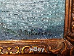 Jules RIBEAUCOURT huile sur toile ancienne tableau ancien Provence