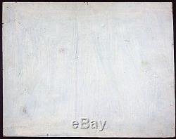 Léon Chevalier Ancien Tableau Peinture Huile Original Antique Oil Painting Old