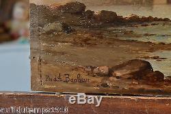 MARINE XIXeme Ferdinand BONHEUR (1817-1887) HUILE TABLEAU ANCIEN CADRE