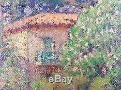Marcel Dominique Poggioli (Français, 1882-1969) Ancien Tableau Peinture Huile