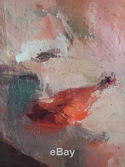 Marie Bourdon-Loyzance (XXe) Ancien Tableau Peinture Huile Original Painting