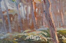 Marius GUEIT (1877-1956) LANDES BORDEAUX IMPRESSIONNISME HUILE TABLEAU ANCIEN