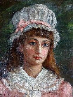 Mary Macarthur (1872-1901) Ancien Tableau Peinture Huile Original Oil Painting