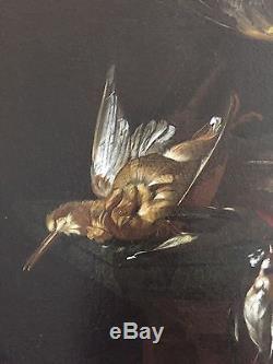 Nature Morte Aux Oiseaux 18eme Siecle Tableau Ancien Huile Sur Toile