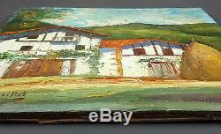 Octave de Creusillet Ancien Tableau Peinture Huile Original Antique Oil Painting