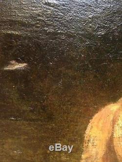 Orientaliste tableau ancien XIXe Cavaliers Maures signature Alfred DEHODENCQ