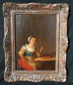Paire De Tableaux Ancien XVIII Ecole Flamande Scene De Taverne