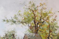 Paysage XIX Barbizon Huile Galien-laloue (1854-1941) Tableau Ancien Cadre