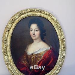 PORTRAIT Dame de Qualité 17ème TABLEAU ANCIEN HST XVIIEME Pierre Mignard