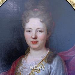 PORTRAIT Dame de Qualité 18ème Tableau ancien HST XVIIIEME Henri. P Danloux