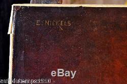 PORTRAIT HOMME DE QUALITE HUILE SUR TOILE Emile NICKELS (XIX-XX) TABLEAU ANCIEN