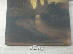 Peinture Ancienne Sur Panneau Tableau