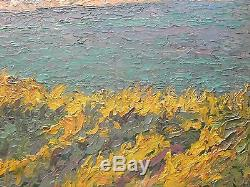 Pointilliste, Impressionniste, Eugène CADEL(1862-1942) Tableau ancien