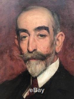 Portrait D'homme, Dandy, Tableau Ancien XIX huile sur toile