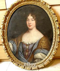 Portrait Dame de Qualité 17ème, Tableau ancien
