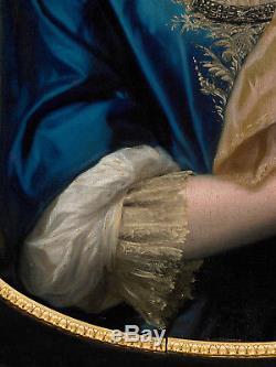 Portrait Femme 17ème Tableau Ancien HST XVIIEME Entourage François De Troy