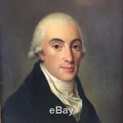 Portrait d'homme, tableau ancien, XIXème