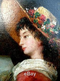 Portrait dÉlisabeth VIGEE LE BRUN, A. PHALIPON(XIX) Tableau ancien