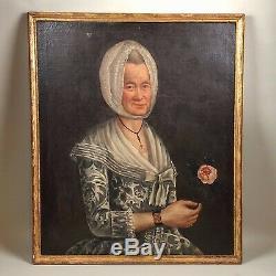 Portrait d'une femme de qualité, tableau ancien