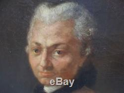 Portrait gentilhomme XVIIIe tableau ancien huile sur toile