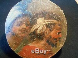 RARE ANCIEN ENSEMBLE de 8 X TABLEAU ROND (TONDO) XVIII ème PEINTURE