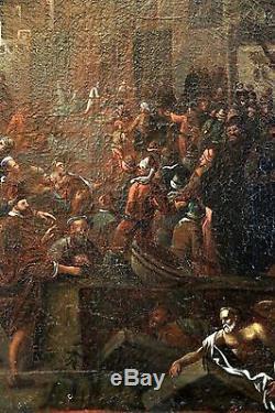 Rare Ecole flamande du XVIIe siècle, tableau ancien, HST