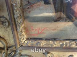Rare ancien tableau orientaliste par augustin REGIS