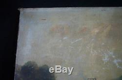 Signé Chatles MONTLEVAULT 1881 /coté AKOUN /TABLEAU ancien HUILE sur TOILE 19ème