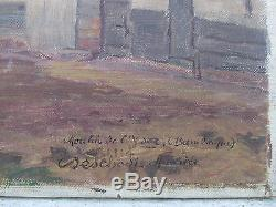 Superbe Ancien Tableau Huile Sur Toile Moulin De L'yser Bambecque