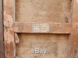 Superbe Tableau Ancien Huile Paquebot LOUIS TYNAIRE 1904 Monte-Carlo MONACO